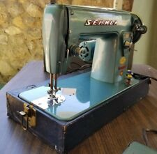Vintage SEWMOR 754 Portable JAPAN w/Case Heavy Duty Upholstery Sewing Machine