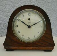Antique c1930's Temco Electric Mantel Clock Oak Cased (British Bakelite Back)