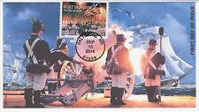 JVC CACHETS -2014 FORT McHENRY ISSUE FIRST DAY COVERS FDC MILITARY WAR TOPICAL 3