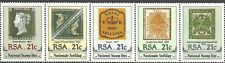 Afrique du sud - Tag de Timbre Cinq bandes de couleur menthe 1990 Mi. 795-799