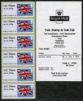 MA13 FLAG TYPE III HYTECH JULY 2013 YORK FAIR POST & GO STRIP of 6 x 1st CLASS