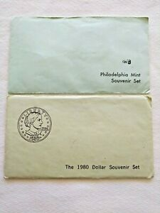 (2) US Mint Souvenir Sets 1978 Philadelphia (sealed) & 1980 Dollar Set