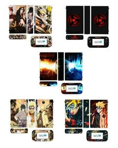 Naruto Skin Sticker Cover for Nintendo Wii U Console & Controller skins stickers