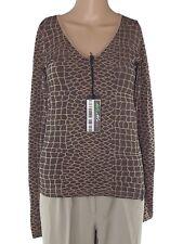 glory art collection maglia donna marrone stretch taglia l / xl large