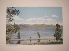 "F Jay Haynes Photo Art Print ""Yellowstone Lake And Absaroka Range"" 1930's"