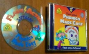 Flash Action Software-Phonics Made Easy, Ages 6+  CD-ROM by School Zone