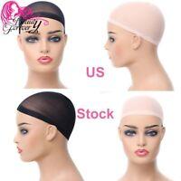 Weaving Cap Nylon Hair Net Wig Liner Unisex Making Wigs Glueless Black US 5PCS