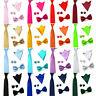 Men's High Quality Bow Tie Necktie Handkerchief Pocket Square Cuff Link Set
