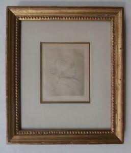 Renoir Drypoint Etching Print Berthe Morisot 1892 French Impressionist Artist NR