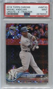 2018 Miguel Andujar Topps Chrome Update XFRACTOR ROOKIE Rc 41/99 PSA 9 MINT