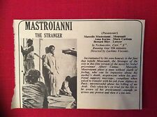 m76b ephemera 1968 film review mastroianni the stranger camus