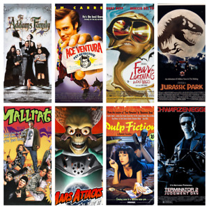 90s Movie Posters A4 or A5 - 159 To Choose Classic Movies Art Films Mini Posters