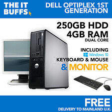 Dell Optiplex Dual Core 4gb RAM 250GB HDD Windows 10 Escritorio Pc Ordenador