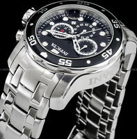 Invicta 48mm Pro Diver Scuba Chronograph Black Dial Stainless Steel 200MT Watch