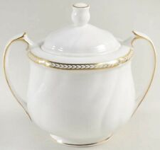 New ListingWedgwood Crown Gold Sugar Bowl and Lid * Discontinued * Rare