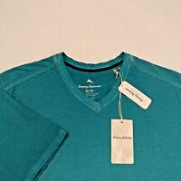 Tommy Bahama Men's Cirrus Coast Striped V-Neck T-Shirt Size M XL