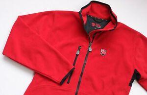 Fjallraven WINDSTOPPER Fleece jacket women top size Medium UK 10 EU 38 Red