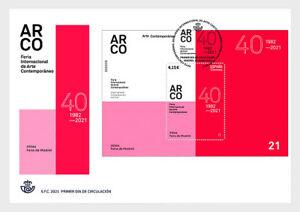 spain 2021 espagne ARCO logo Art Fair in Madrid events IFEMA 40 1982 1v FDC PJ