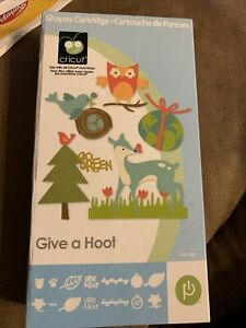 Cricut cartridge Give a Hoot, animals, trees, earth, etc., Unlinked