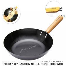 Kitchencraft World of Flavours Oriental Carbon Steel 30cm Non-stick Wok