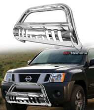 For 2008-2012 Nissan Pathfinder S/S Chrome Hd Bull Bar Bumper Grill Grille Guard