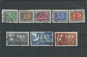 Schweiz Pax - Mi-Nr. 447 - 452 + 456 gestempelt