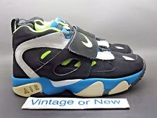 Nike Air Diamond Turf II 2 Black Volt Diamond Blue White GS 2012 sz 6.5Y