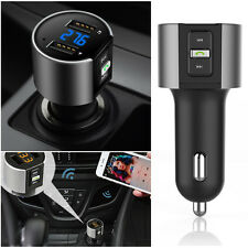 Coche Kit Dual USB MP3 Música Reproductor Bluetooth Inalámbrico FM Transmisor