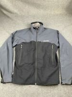 CLOUDVEIL MEN SIZE MEDIUM BLACK & GRAY FULL ZIP SOFT SHELL JACKET EUC