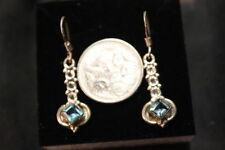 Handmade Topaz Drop/Dangle Sterling Silver Fine Earrings
