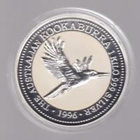 1996 $30 Kookaburra 1 kg kilo Silver Coin Perth Mint Australia very nice