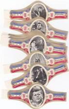 10 cigar bands President Kennedy Avb258 Dark Blue Wings