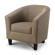 Wood & Fabric Lounge Chair Armchairs