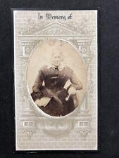 Victorian Carte De Visite CDV: Lady: Unusual Memorial Mount