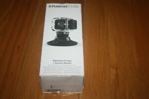New In Box Polaroid Cube Waterproof Case & Suction Mount SHIP FREE US FAST