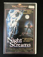 Night Screams Ex-Rental Vintage Big Box VHS Tape English dutch subs Horror