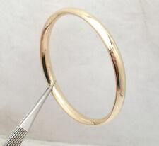 Technibond Polished Comfort Fit Bangle Bracelet 14K Yellow Gold Clad Silver