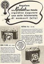W9206 KODAK Retina II & Duo II - Pubblicità del 1940 - Vintage advertising