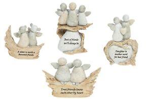 Pebble Art Angel Daughter Sister Best Friend Sentimental Ornament Keepsake Gift
