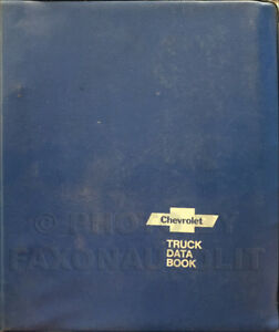 1978 Chevy Truck Data Book for all Chevrolet Trucks Options and Specifications
