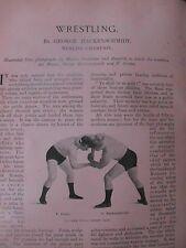 Wrestling George Hackenschmidt World Champion F Gruhn Old Edwardian Article 1902