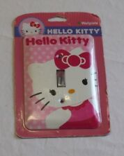 HELLO KITTY DECORATIVE WALL PLATE LIGHT SWITCH COVER BEAUTIFUL NEW IN PACKAGE