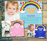 10 Rainbow Bunting Photo Cloud Personalised Thank You Cards Birthday Christening