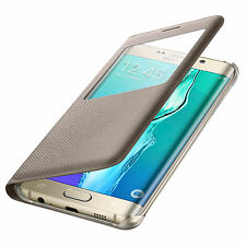 Samsung S-View Cover Flip Case EF-CG928 NUR für Galaxy S6 Edge+ PLUS Gold