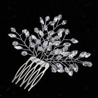 Fashion Leaf Rhinestone Hair Comb Wedding Bridal Hair Crystal Headpieces