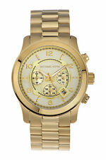 Michael Kors Mens MK8077 Runway Chronograph Gold-Tone Stainless Steel Watch