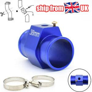 38mm Car Coolant Radiator Hose Joint Pipe Clamps Sensor Fit Water Temp Gauge UK