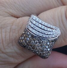 Ciemme Chocolate white diamond 1.50cts right-hand ring 14k WG Designer
