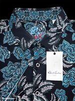 Robert Graham Dark Floral Themed Shirt Size Medium - $198 NWT