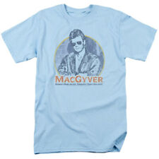 MacGyver Retro 80's adventure action Tv series blue graphic t-shirt Cbs1640